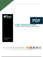 uTest Whitepaper Load Testing for Less