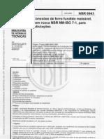 NBR 6943 - Cordões de ferro fundido maleável com rosca NBR NM-I