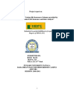 """Project report on      """"A Detailed study of Various life Insurances Schemes provided by                       HDFC Standard Life Insurance and their Analysis"""