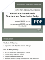 State of Practice - Micropile Structural and Geotechnical Design