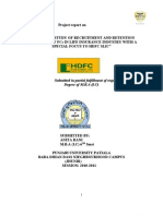 """Project report on   """"A DETAILED STUDY OF RECRUITMENT AND RETENTION STRATEGIES OF FCs IN LIFE INSURANCE INDUSTRY WITH A SPECIAL FOCUS TO HDFC SLIC"""""""