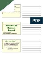 020 - BASES de DATOS I - (1ra Parte) 2013 (Para Alumnos)