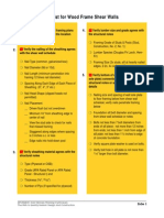 Jobaid1 Inspection Checklist for Wood Frame Shear Walls