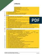 Jobaid2 Checklist for Design of Masonry