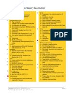 Jobaid3 Inspection Checklist for Masonry Construction