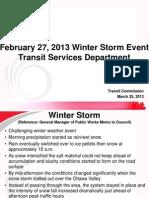 Feb. 27, 2013 OC Transpo Winter Storm Update