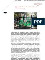 La Transformación de los Verdes en Alemania. Neoliberales en bicicleta