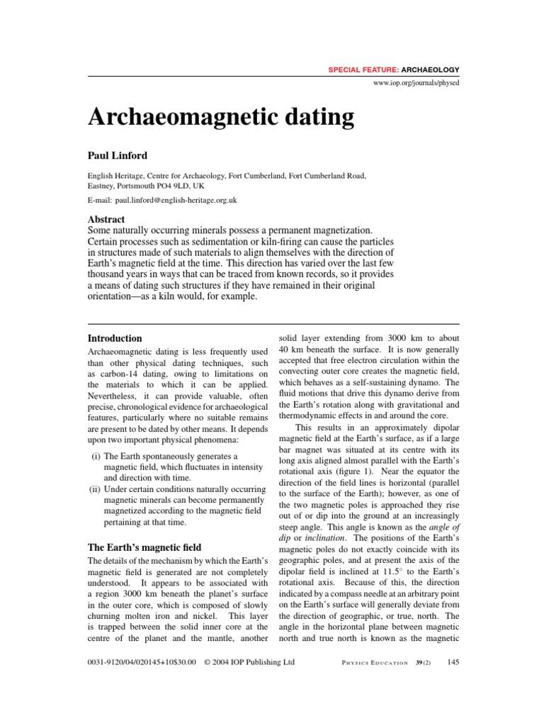 Archaeomagnetic dating english heritage uk