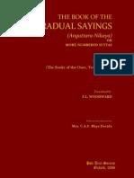 Book of Gradual Sayings [Anguttara Nikaya]. Vol. I (2006). (311p) - Woodward, F.L.; Hare, E.M. (Trs) -