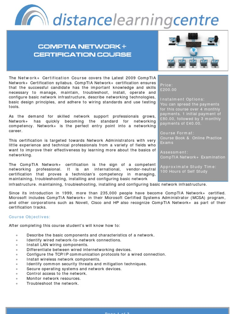 N Syllabus Comp Tia Computer Network
