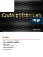 CodeIgniter Lab