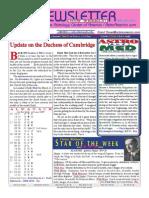 ASTROAMERICA NEWSLETTER DATED MARCH 26, 2013
