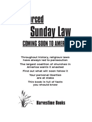 Rced Commentary Education Bills Put >> Enforced Sunday Law Coming Soon To America By Vance Ferrell