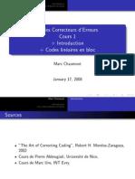 01 Codes Correcteurs d'Erreurs