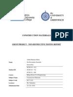 Non Destructive Testing Report