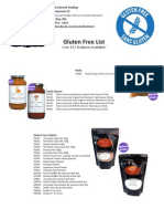 Gluten Free List