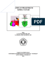 Pedoman Praktikum Kimia Tanah