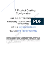 Product Costing in SAP ERP