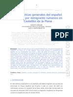 Características generales del español