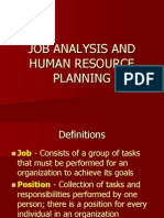 Job Analysis and Hrp
