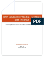 Citizen's Education Idea Initiative Summary