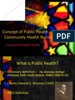 Concept of Public Health and Community Health Nursing