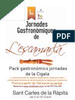 paquete gastronómico de las jornadas de la cigala 2013