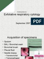 Exfoliative respiratory cytology (part 1 of 2)
