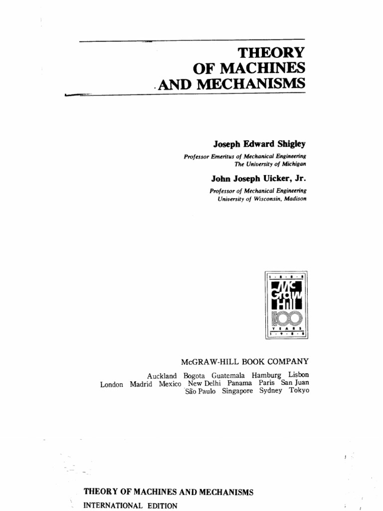 theory of machines and mechanisms by shigley rh fr scribd com  mechanisms and dynamics of machinery solution manual pdf mabie