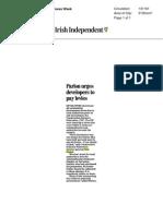 Irish Independent 21 March 2013