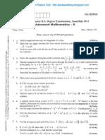 Advanced Mathematics - 2 July 2011