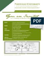 Portfolio University at CET - Business Model Generation - April 2013