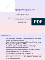 Parallel Programming Using MPI