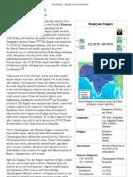 Maurya Empire - Wikipedia, The Free Encyclopedia