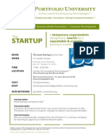 Portfolio University at CET - Lean Startup Principles - July 2012