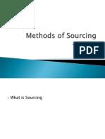 Methods of Sourcing-2012