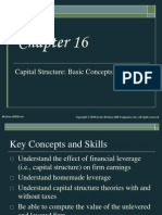 Chap016 Capital Structure Basic Concept