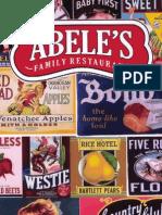 Abele's Family Restaurant menu in Morganton NC