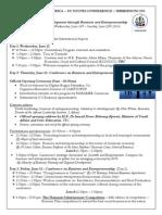 Program Schedule for Africa USA Biz Exchange/Immersion Program