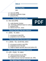 Sprinkler System Formulas