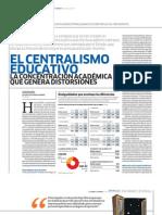 El Centralismo Educativo