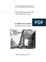 La cultura del Restauro. Antologia di testi e fonti