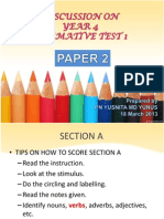 Discussion on Year 4 Summative Test 1 Paper 2