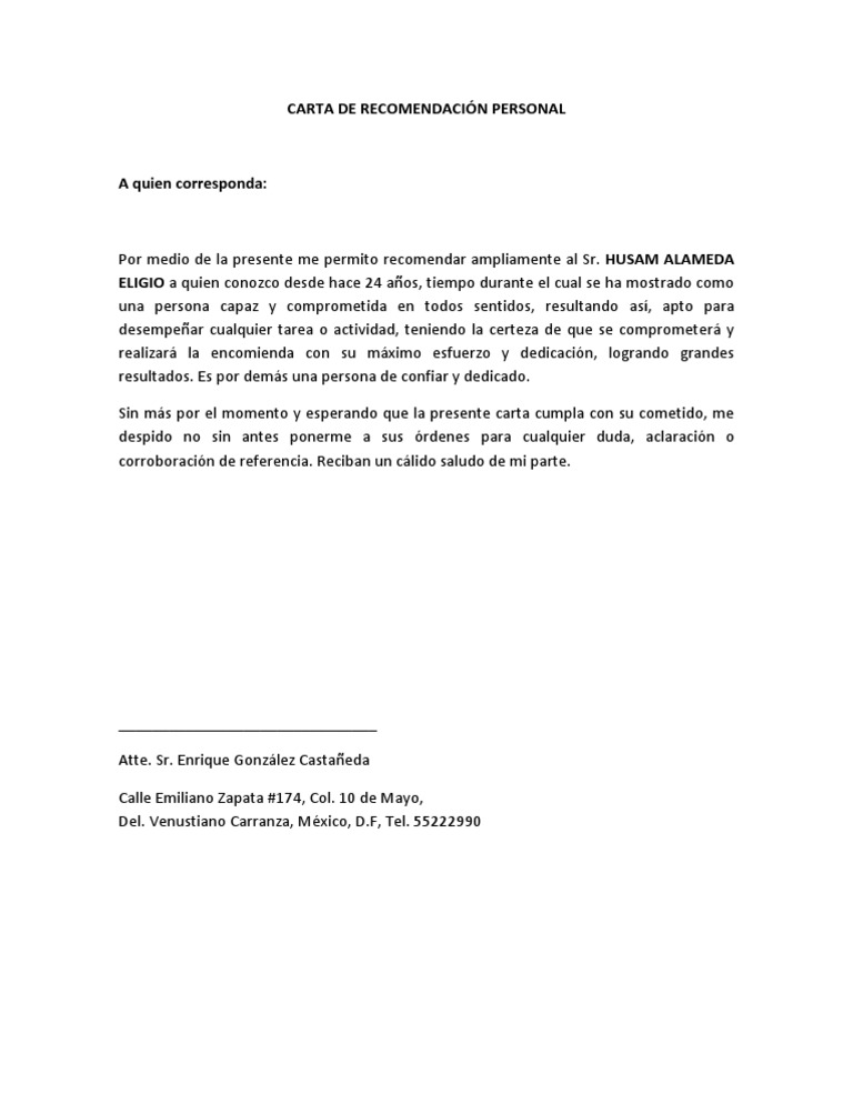carta de recomendaci u00d3n personal husam docx