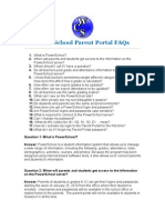 Parent Portal FAQ