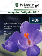 Tuxer Prattinge - Ausgabe Frühjahr 2013