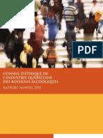 Rapport annuel Conseil d'éthique 2012