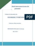 Elearning y Portales Web