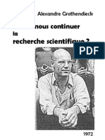 Grothendieck Allons Nous Continuer