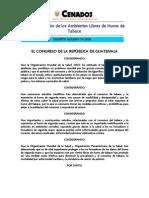Decreto 74-2008 Ley de Creacion de Los Ambientes Libres de Humo de Tabaco